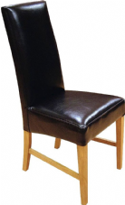 Marlow Wooden Side Chair with Upholstered Seat & Back in Black